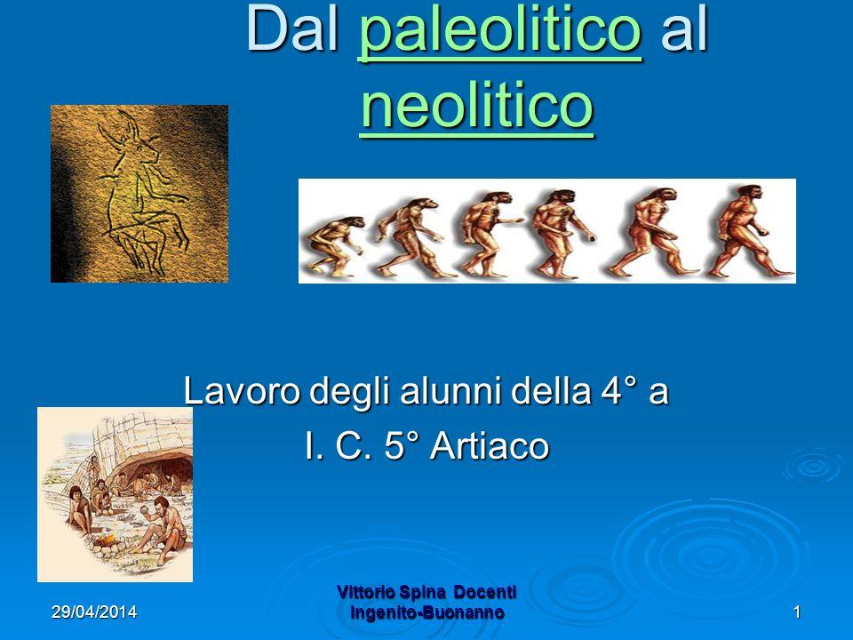 29/04/2014 Vittorio Spina Docenti Ingenito-Buonanno1 Dal paleolitico al neolitico paleolitico neoliticopaleolitico neolitico Lavoro degli alunni della