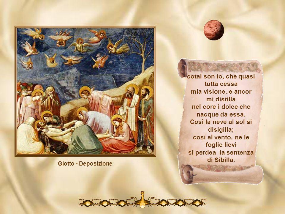 Giotto - Crocifissione Da quinci innanzi il mio veder fu maggio che l parlar mostra, cha tal vista cede, e cede la memoria a tanto oltraggio. Qual è c