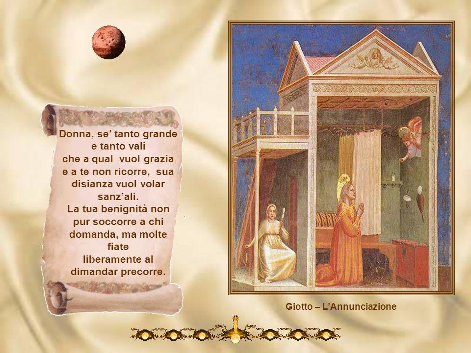 Giotto – Lo sposalizio di Maria Nel ventre tuo si raccese lamore, per lo cui caldo, ne letterna pace così è germinato questo fiore. Qui se a noi merid