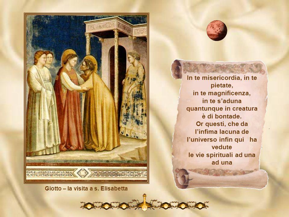 Giotto – LAnnunciazione Donna, se tanto grande e tanto vali che a qual vuol grazia e a te non ricorre, sua disianza vuol volar sanzali. La tua benigni