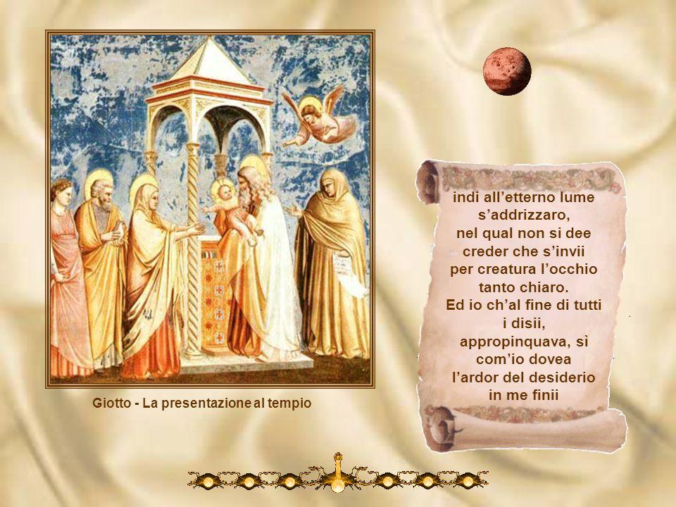 Giotto – La fuga in Egitto Vinca tua guardia i movimenti umani; vedi Beatrice con quanti beati per li miei prieghi ti chiudon le mani! Li occhi da Dio