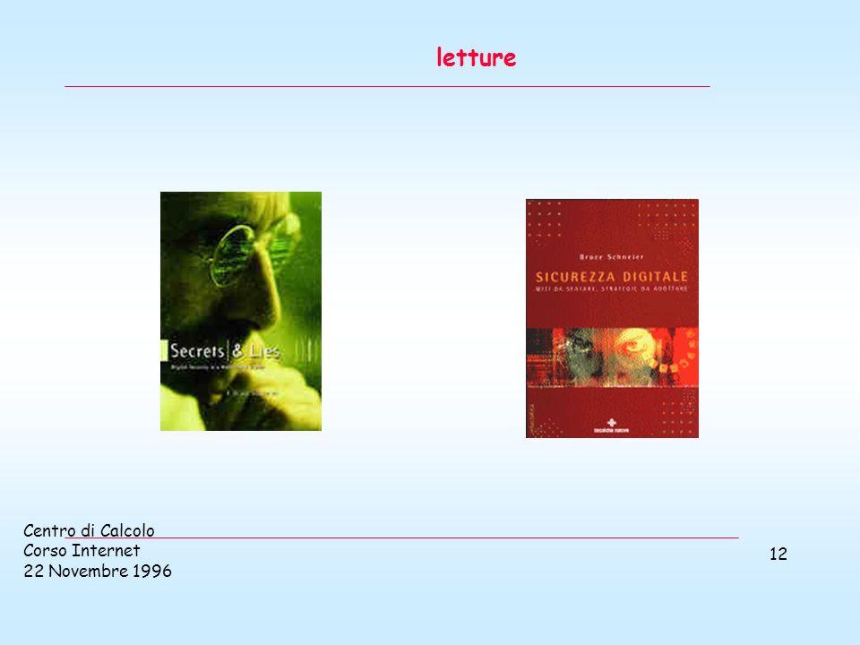 Centro di Calcolo Corso Internet 22 Novembre 1996 12 letture