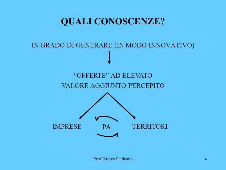 Prof. Marco Pellicano4 QUALI CONOSCENZE.