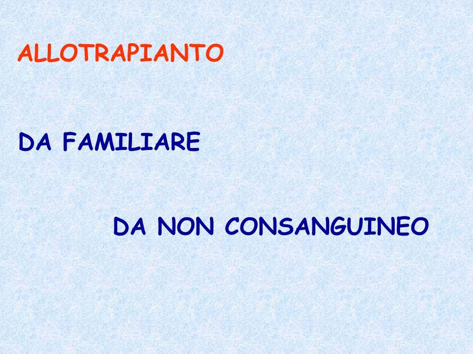ALLOTRAPIANTO DA FAMILIARE DA NON CONSANGUINEO