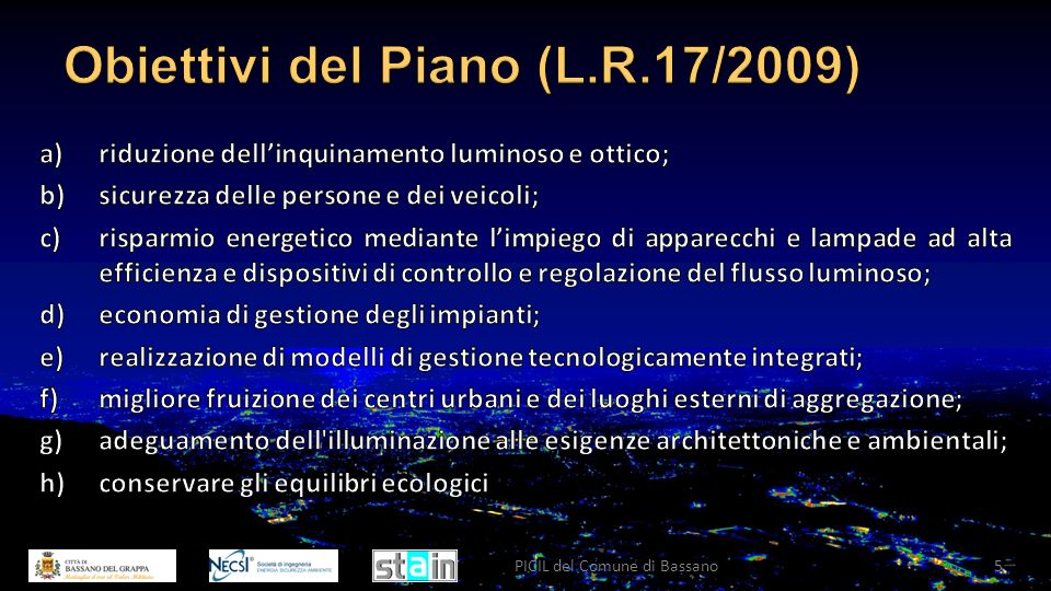 Ottobre 2011PICIL del Comune di Bassano6