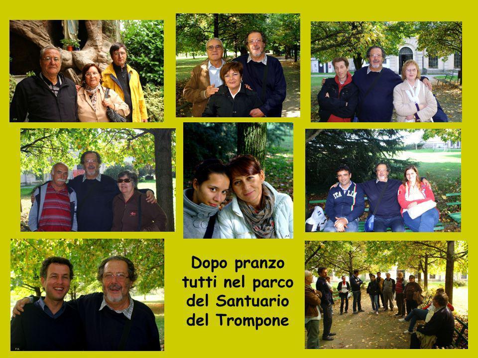 Dopo pranzo tutti nel parco del Santuario del Trompone