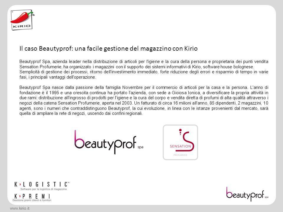 www.kirio.it Beautyprof Spa, azienda leader nella distribuzione di articoli per l'igiene e la cura della persona e proprietaria dei punti vendita Sens