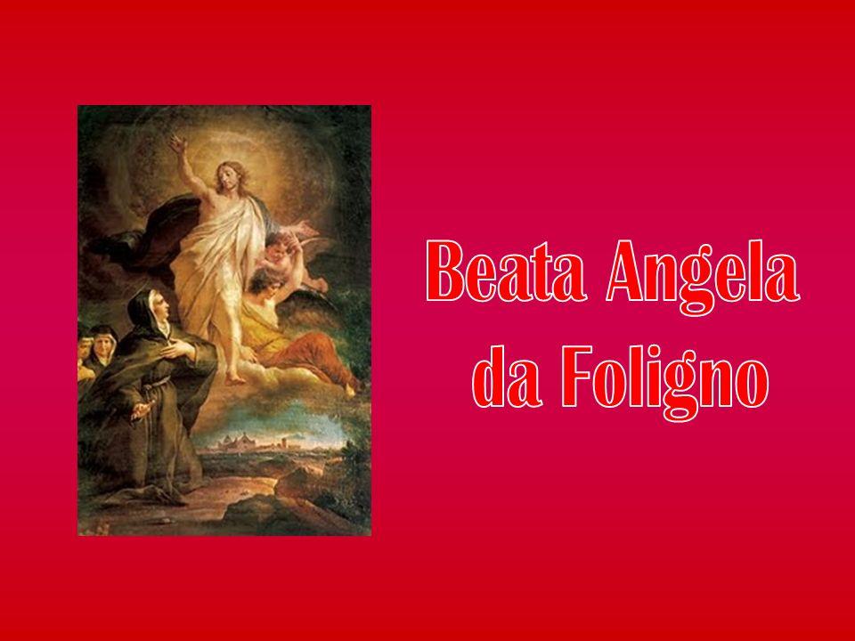 Ed ecco che, nel suo cammino mistico, Angela comprende in modo profondo la realtà centrale: ciò che la salverà dalla sua indegnità e dal meritare l inferno non sarà la sua unione con Dio e il suo possedere la verità, ma Gesù crocifisso, la sua crocifissione per me, il suo amore.