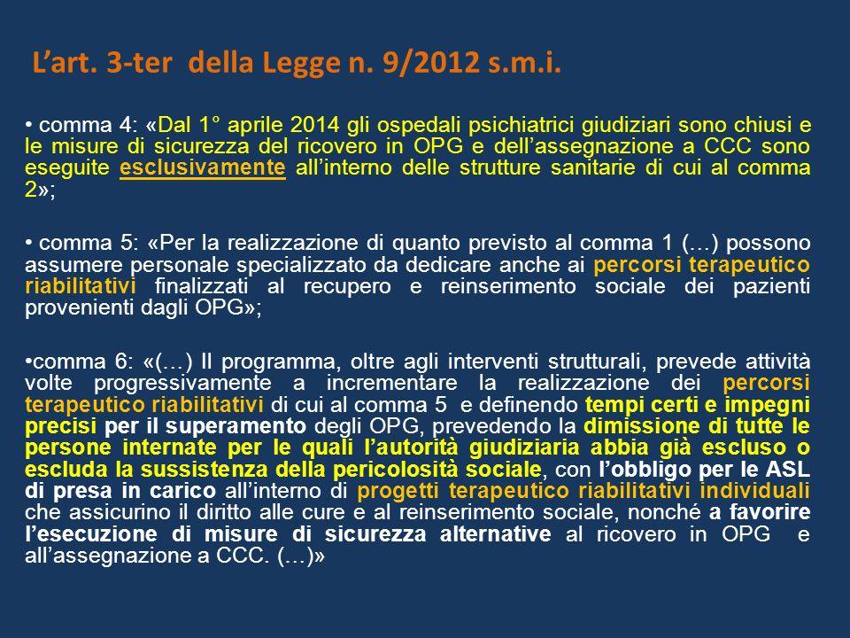 Lart.3-ter della Legge n. 9/2012 s.m.i.