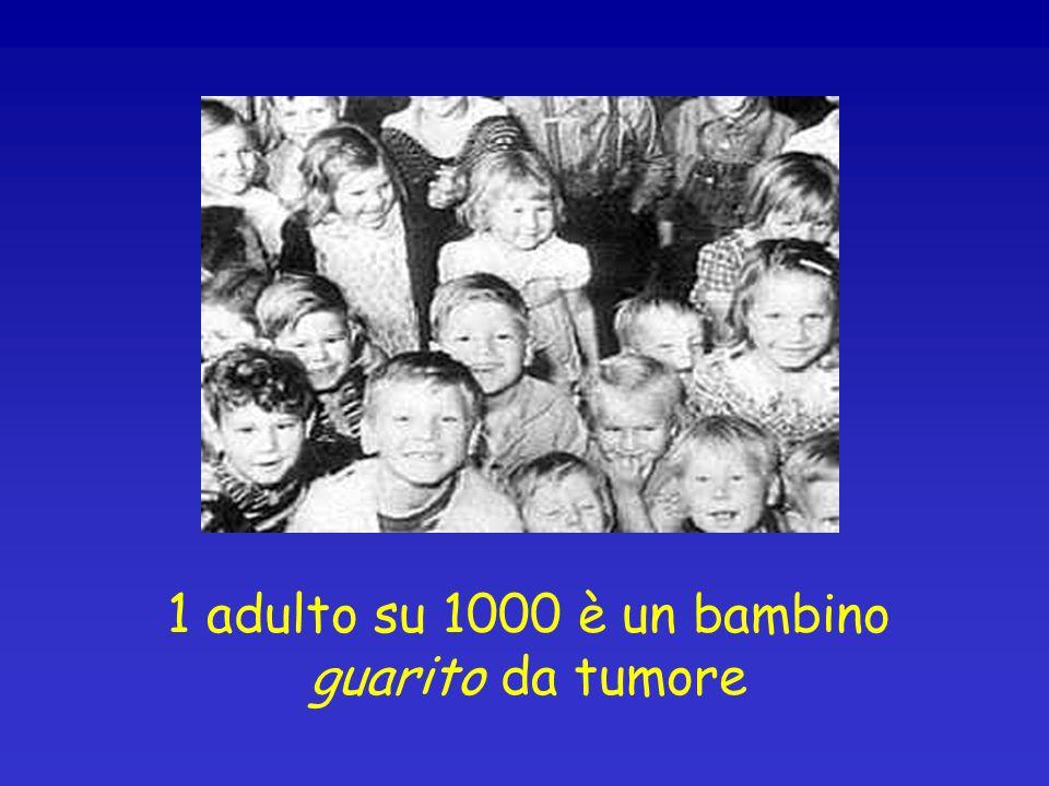 1 adulto su 1000 è un bambino guarito da tumore