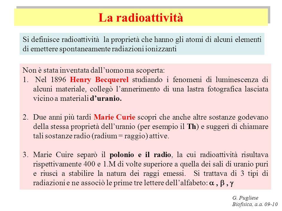 Decadimento Alfa G.Pugliese Biofisica, a.a.