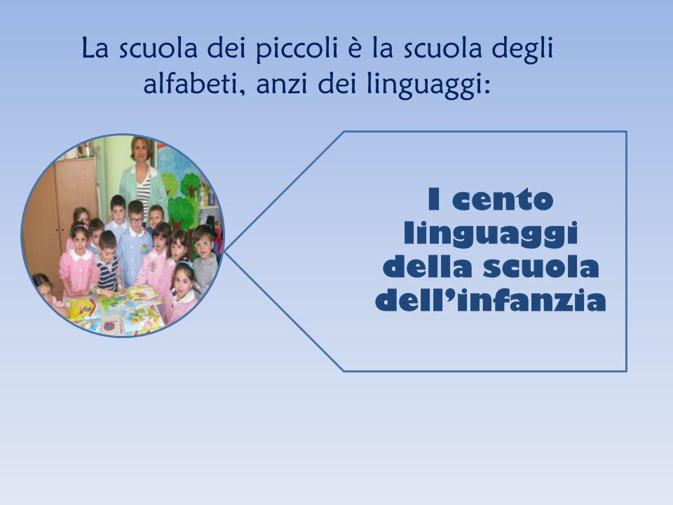 La scuola dei piccoli è la scuola degli alfabeti, anzi dei linguaggi: I cento linguaggi della scuola dellinfanzia