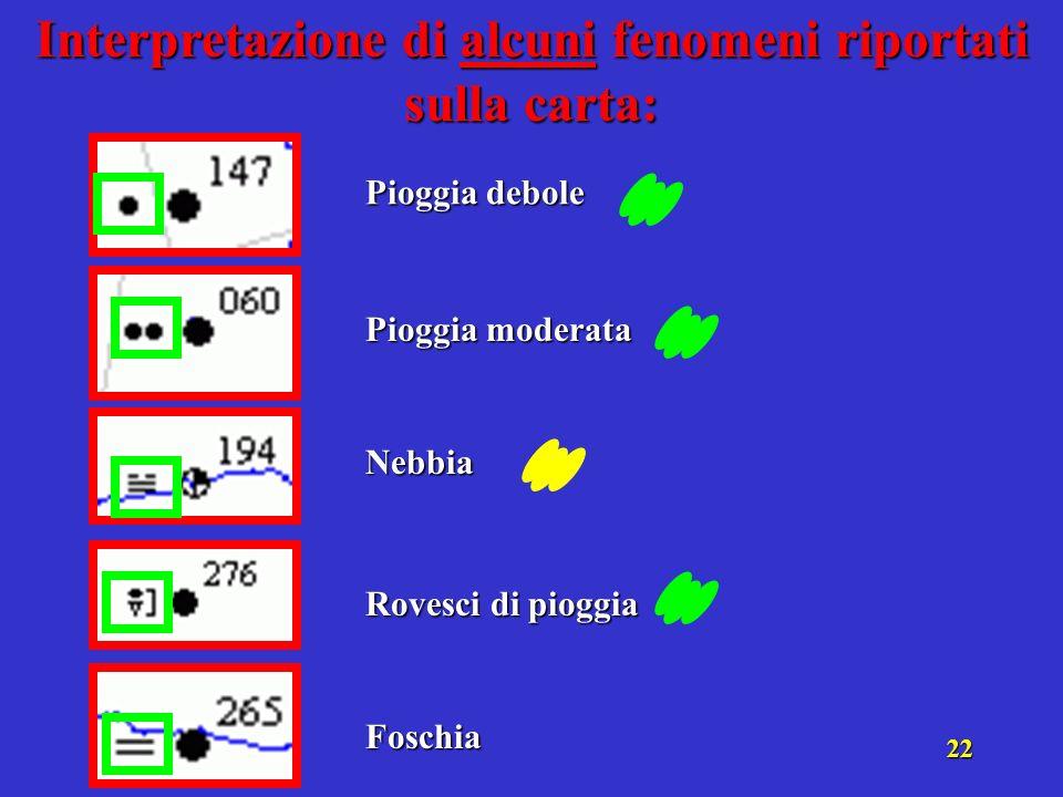 21 Terminato lisobaramento, segnare con una L rossa i minimi di pressione e con una H blu i massimi.