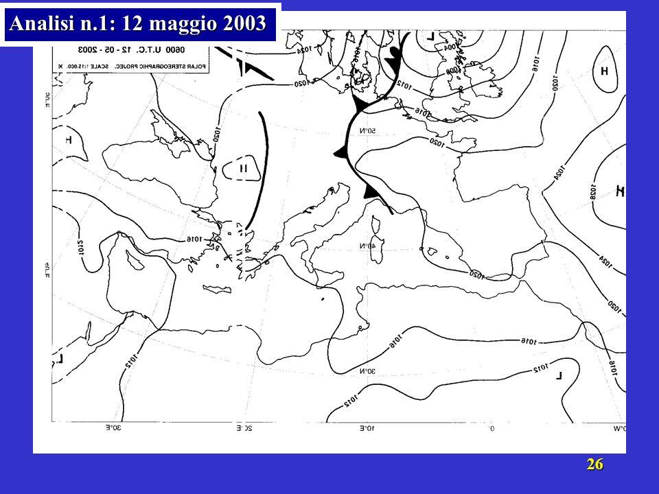 25 Analisi n.1: 12 maggio 2003