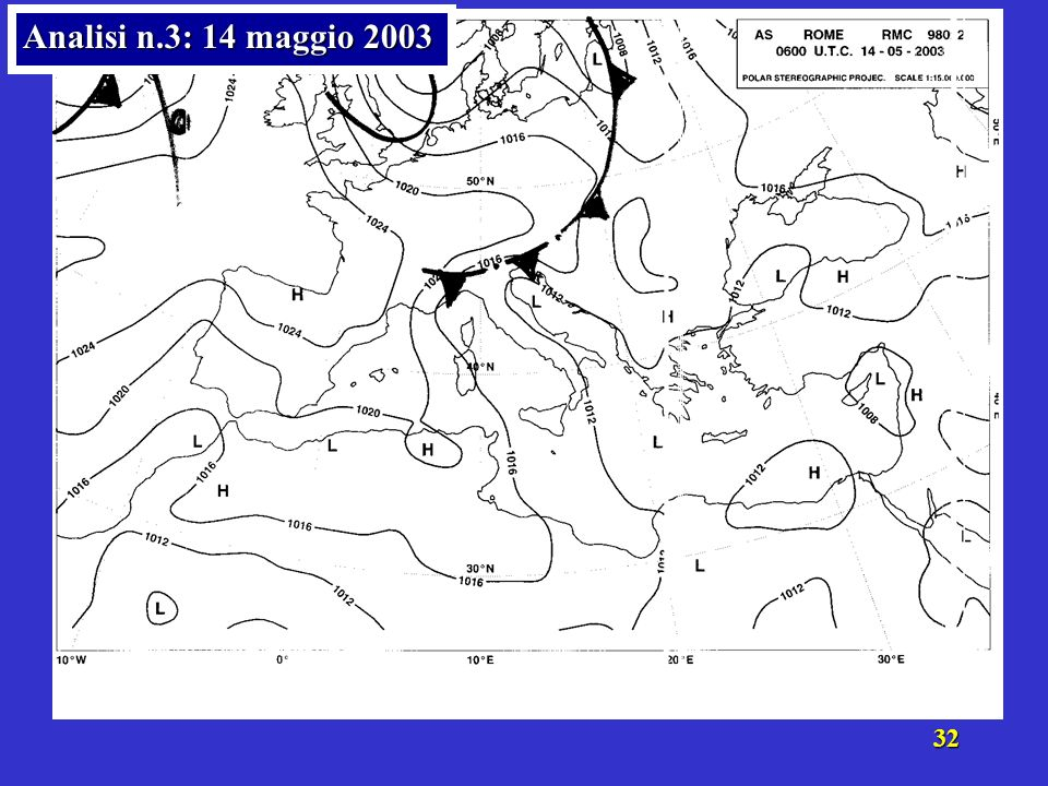31 Analisi n.3: 14 maggio 2003