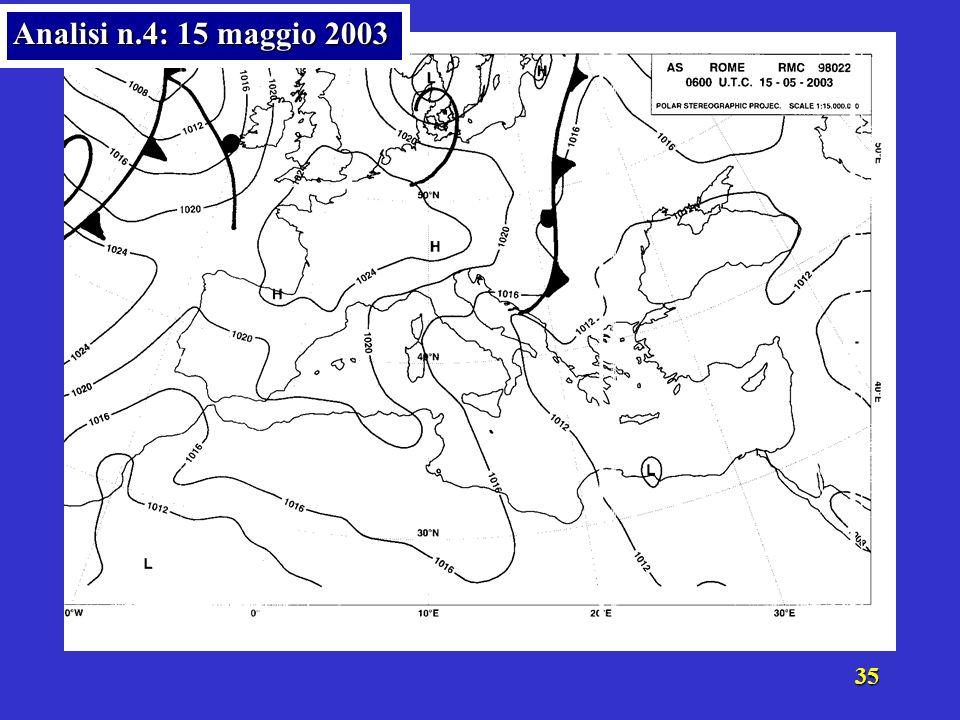 34 Analisi n.4: 15 maggio 2003