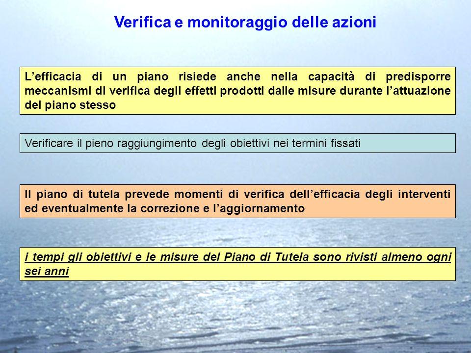 Verifica e monitoraggio delle azioni Lefficacia di un piano risiede anche nella capacità di predisporre meccanismi di verifica degli effetti prodotti