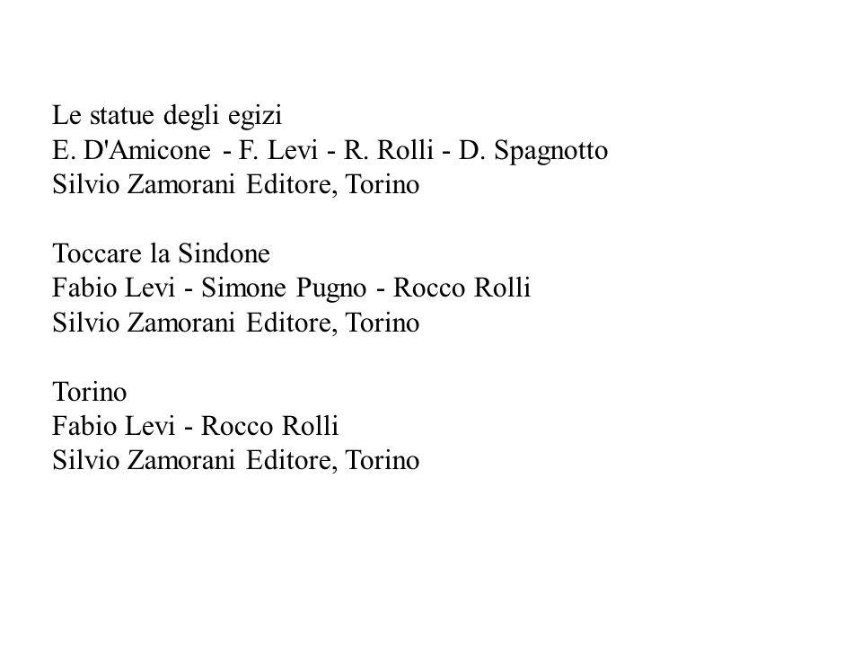 Le statue degli egizi E. D'Amicone - F. Levi - R. Rolli - D. Spagnotto Silvio Zamorani Editore, Torino Toccare la Sindone Fabio Levi - Simone Pugno -