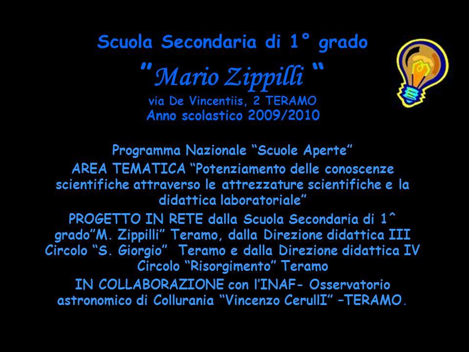 Scuola Secondaria di 1° grado Mario Zippilli via De Vincentiis, 2 TERAMO Anno scolastico 2009/2010 Programma Nazionale Scuole Aperte AREA TEMATICA Pot