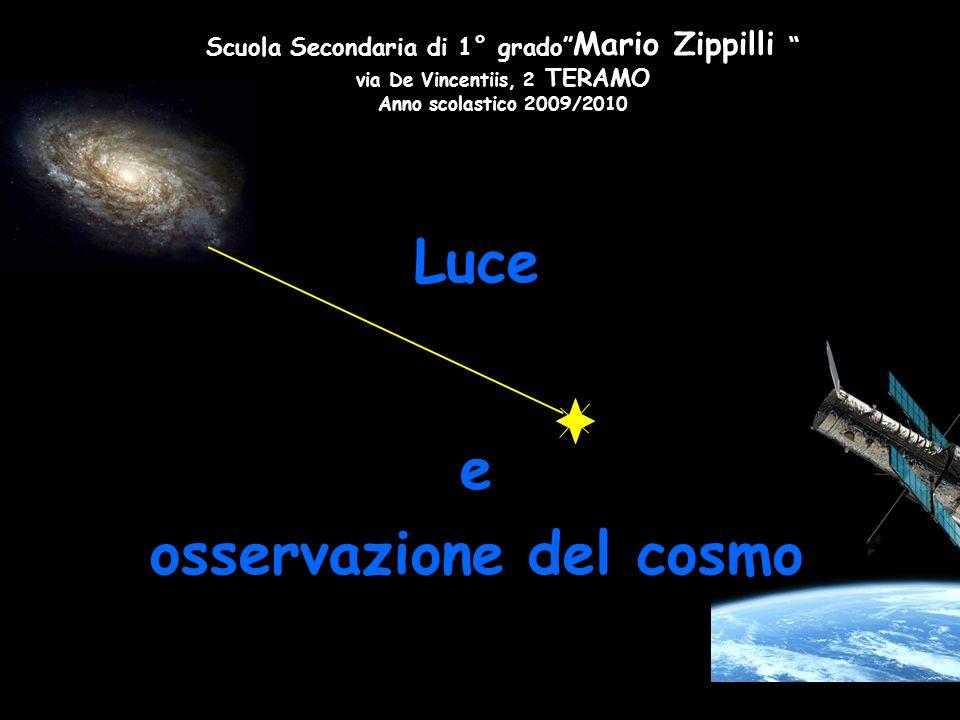 Luce e osservazione del cosmo Scuola Secondaria di 1° grado Mario Zippilli via De Vincentiis, 2 TERAMO Anno scolastico 2009/2010