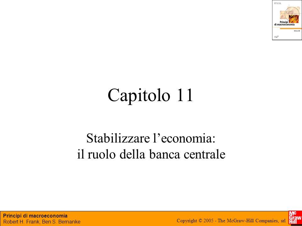 Principi di macroeconomia Robert H. Frank, Ben S. Bernanke Copyright © 2005 - The McGraw-Hill Companies, srl Capitolo 11 Stabilizzare leconomia: il ru