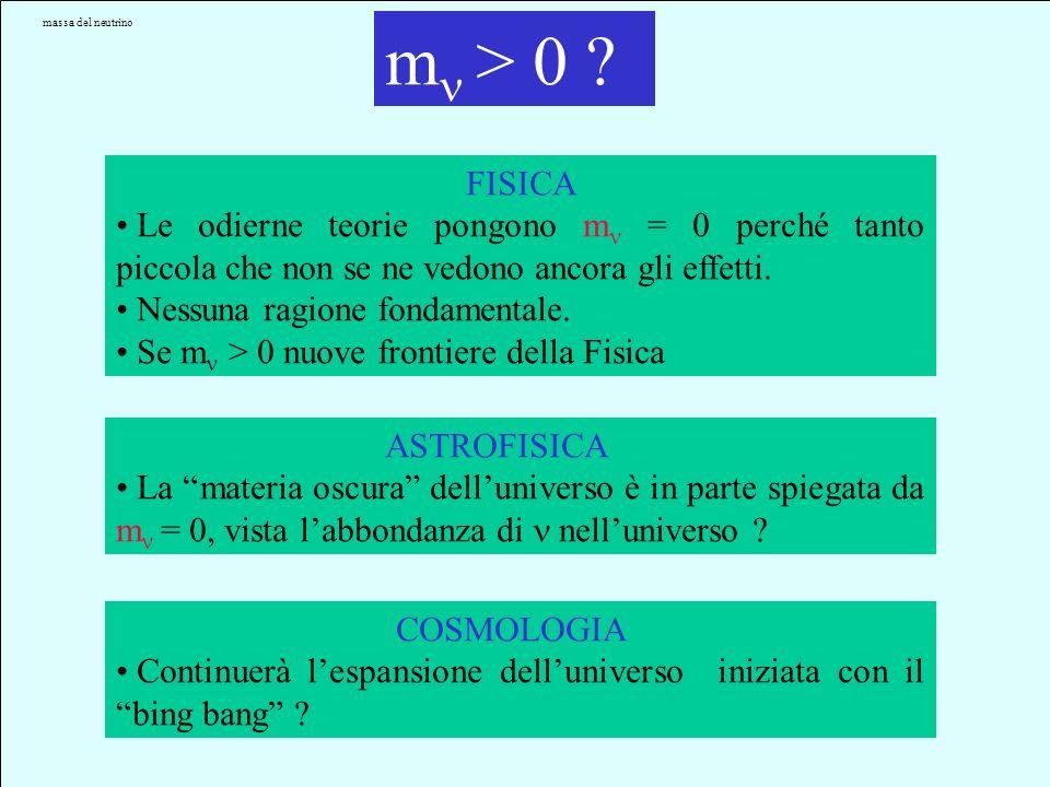 enigma neutrino Lenigma m e le sue implicazioni m FISICA ASTROFISICACOSMOLOGIA