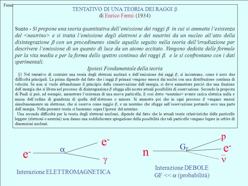 sezione durto Per le particelle elementari (come ) sezione durto invece che dimensioni (es. r 2 di una pallottola) 10 -38 cm 2 Diametro Atomo cm Diame
