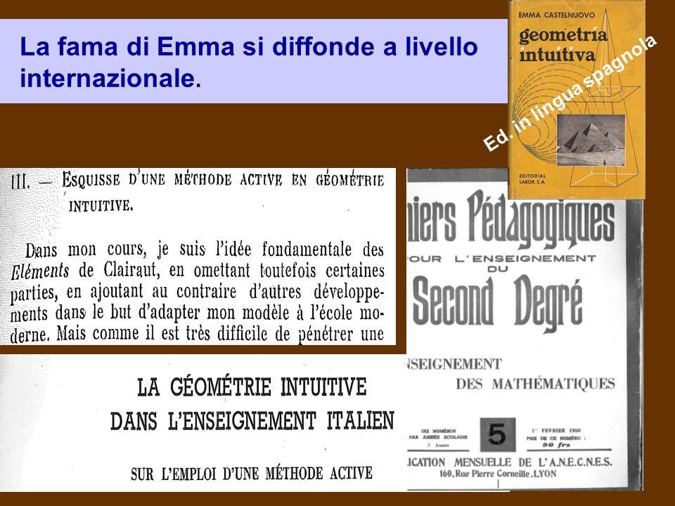 La fama di Emma si diffonde a livello internazionale. Ed. in lingua spagnola