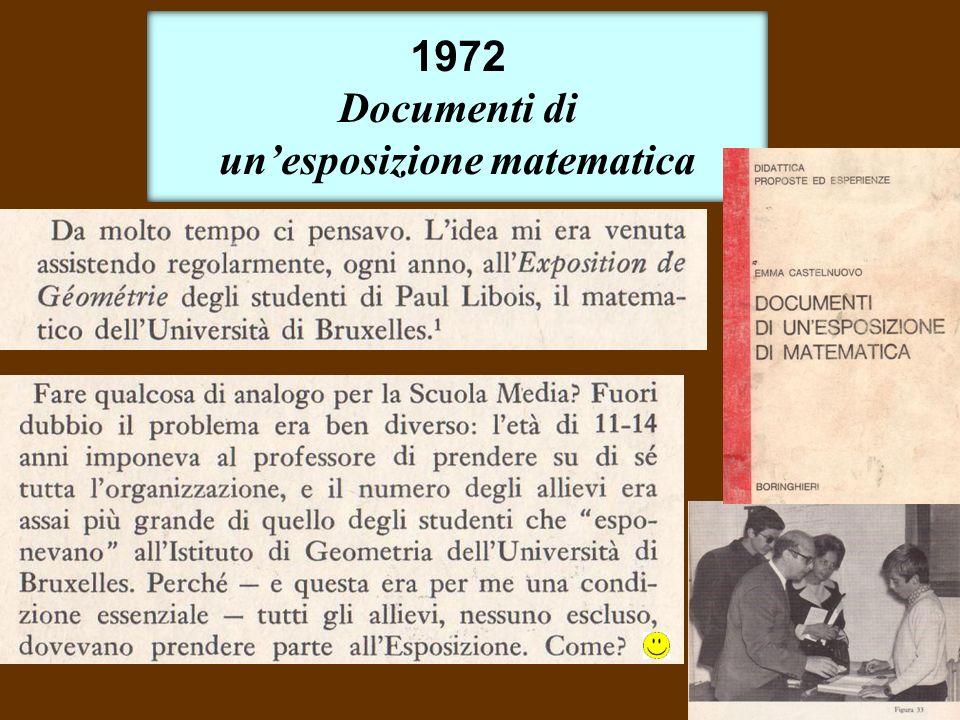 1972 Documenti di unesposizione matematica