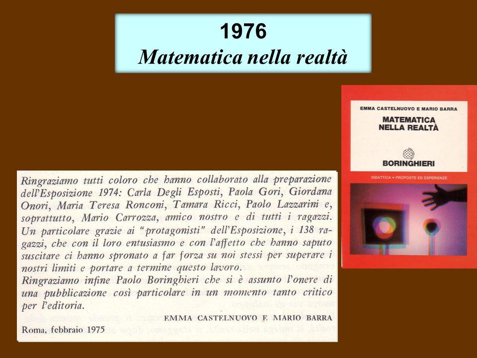 1976 Matematica nella realtà