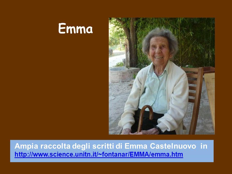 Emma Ampia raccolta degli scritti di Emma Castelnuovo in http://www.science.unitn.it/~fontanar/EMMA/emma.htm http://www.science.unitn.it/~fontanar/EMM