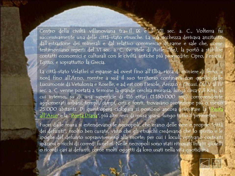 Centro della civiltà villanoviana tra il IX e il VII sec.