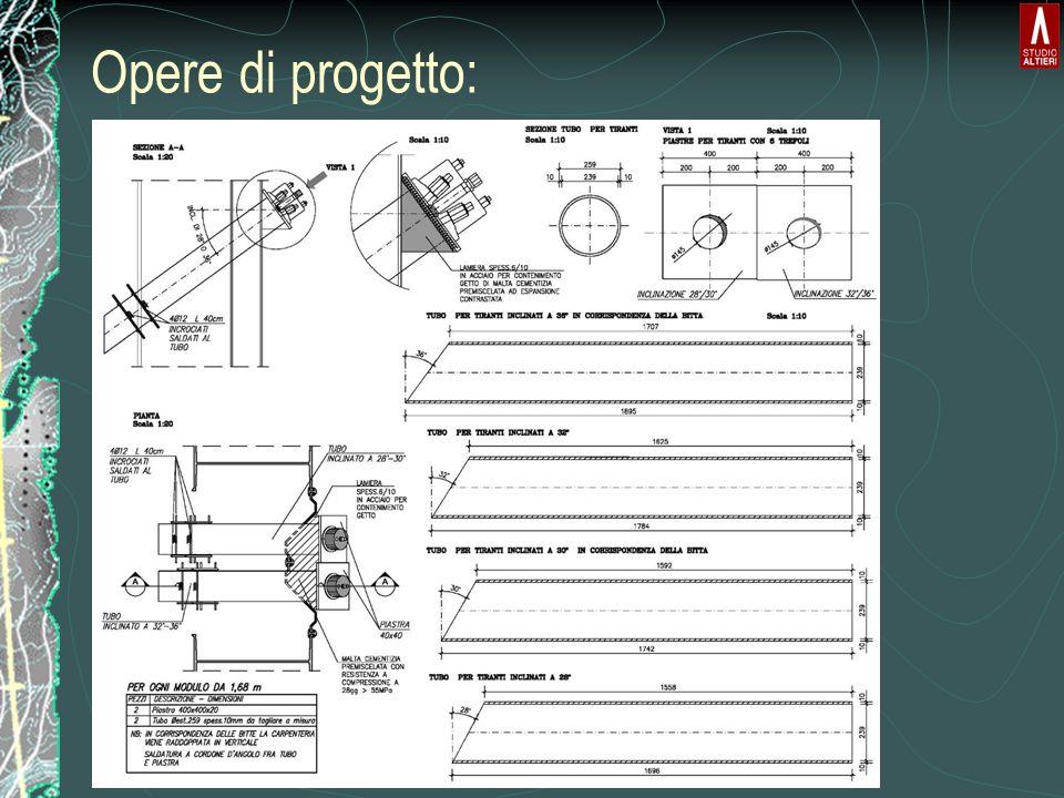 Diaframma sottile Spessore da 25cm Permeabilità ~10 -9 m/s Riempimento in bentonite granulare secca Senza asporto di terrreno