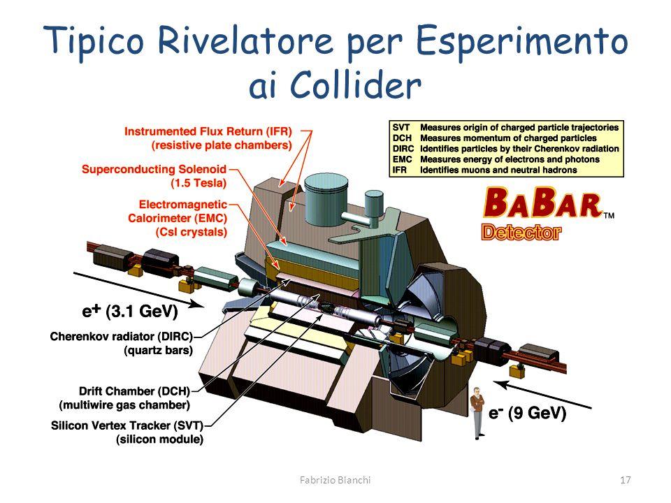 Tipico Rivelatore per Esperimento ai Collider Fabrizio Bianchi17