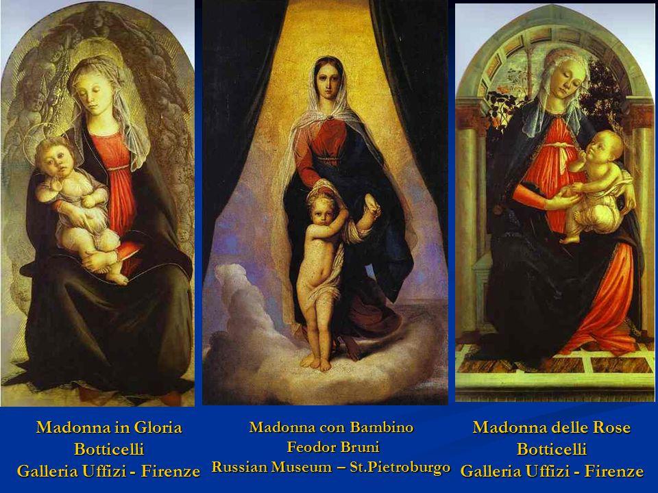 Botticelli - Madonna dellEucarestia Stewart Gardner Museum - Boston Carlo Crivelli - Madonna con Bambino Victoria Museum - Londra