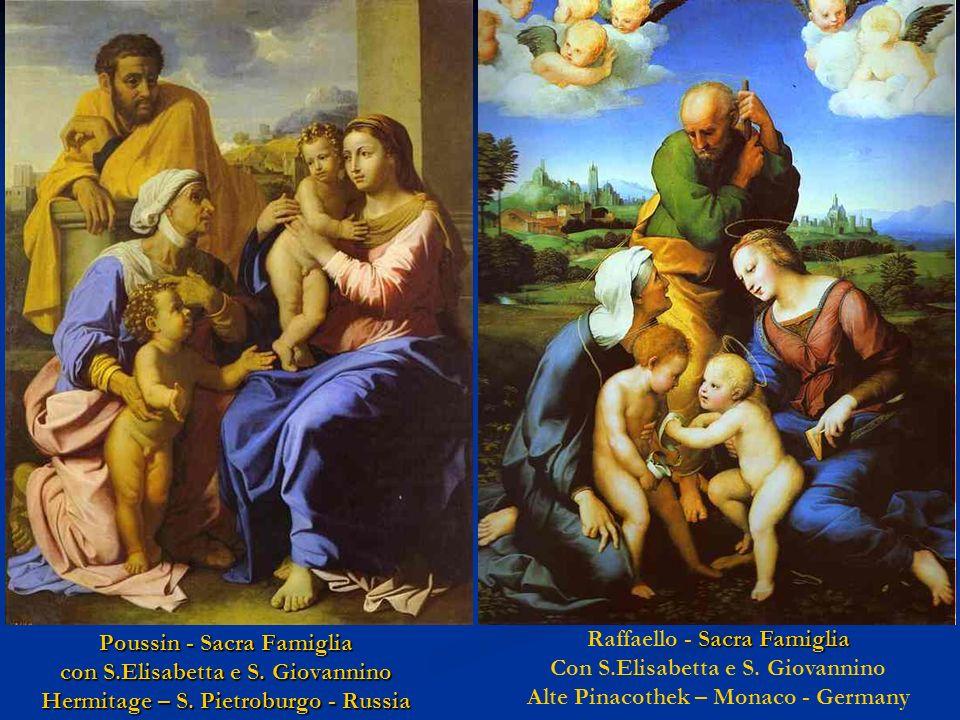 Poussin - Sacra Famiglia con S.Elisabetta e S.Giovannino Hermitage – S.
