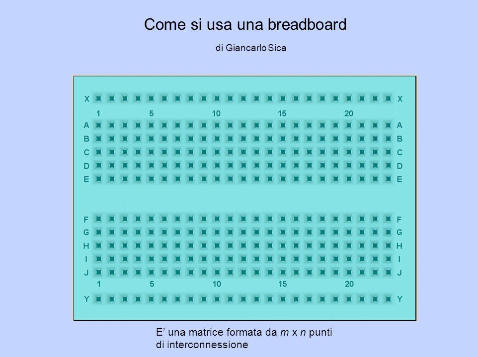 I punti in verde NON SONO connessi tra loroI punti in rosso SONO connessi tra loro Area alimentazione Area prototipazione