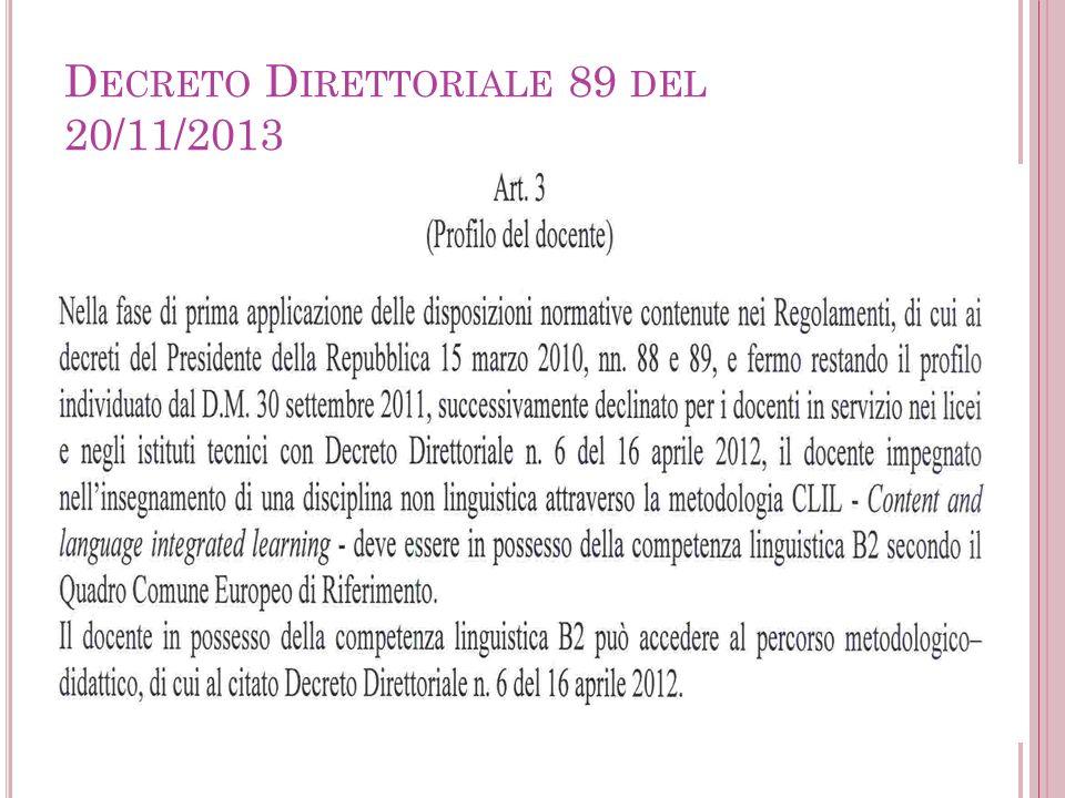 D ECRETO D IRETTORIALE 89 DEL 20/11/2013 12