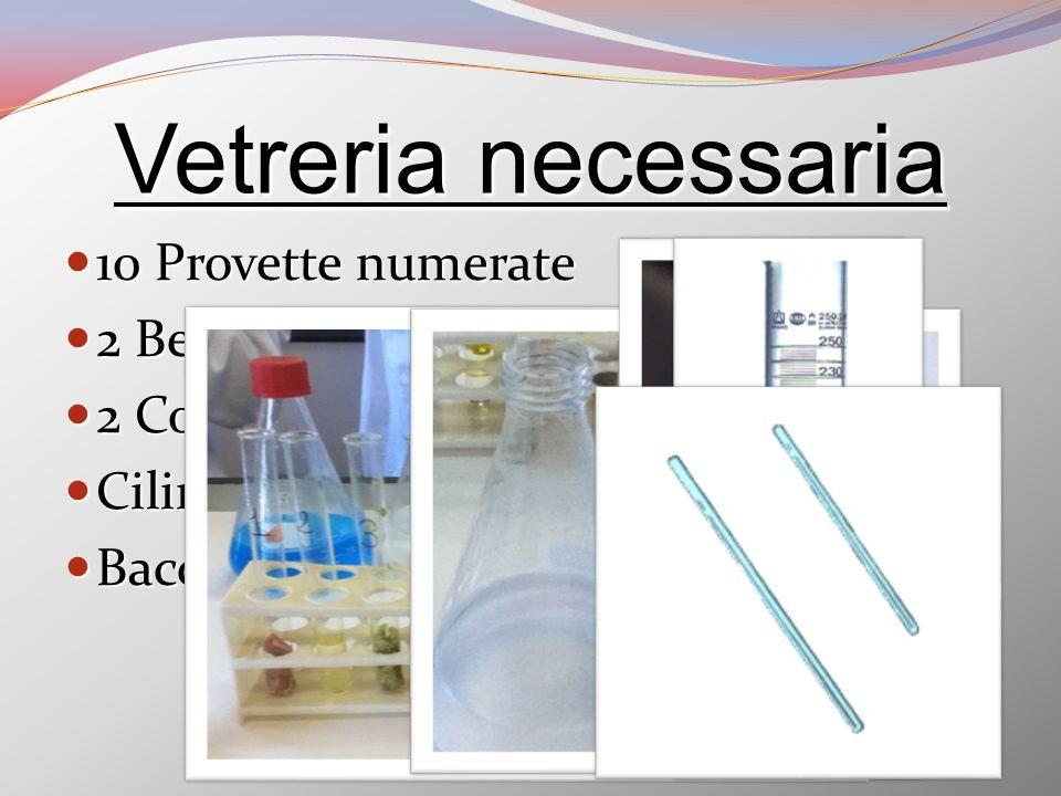 Biureto A 17,3 grammi di CuSO4 (solfato rameico) 17,3 grammi di CuSO4 (solfato rameico) 250 ml di acqua 250 ml di acqua