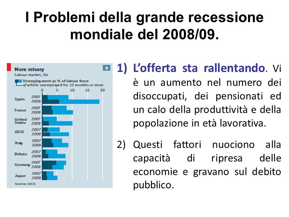 I Problemi della grande recessione mondiale del 2008/09.