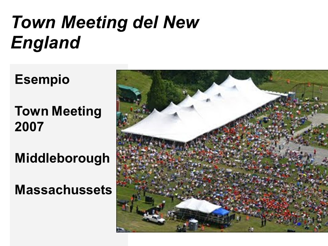 Town Meeting del New England Esempio Town Meeting 2007 Middleborough Massachussets