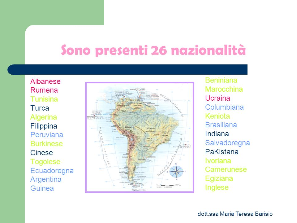 dott.ssa Maria Teresa Barisio Percentuali