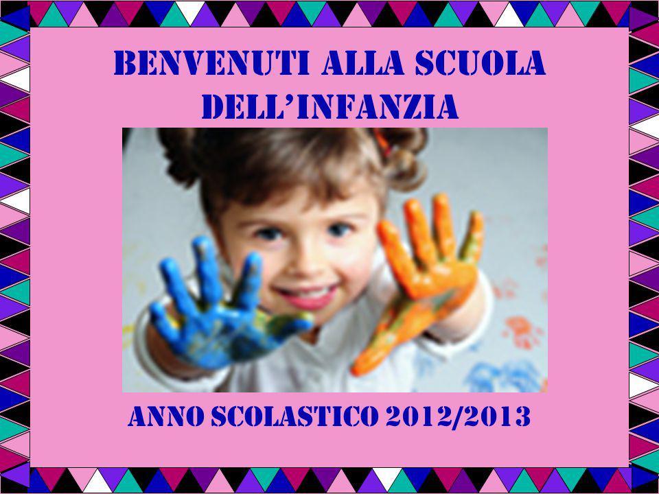 BENVENUTI ALLA SCUOLA DELLINFANZIA anno scolastico 2012/2013