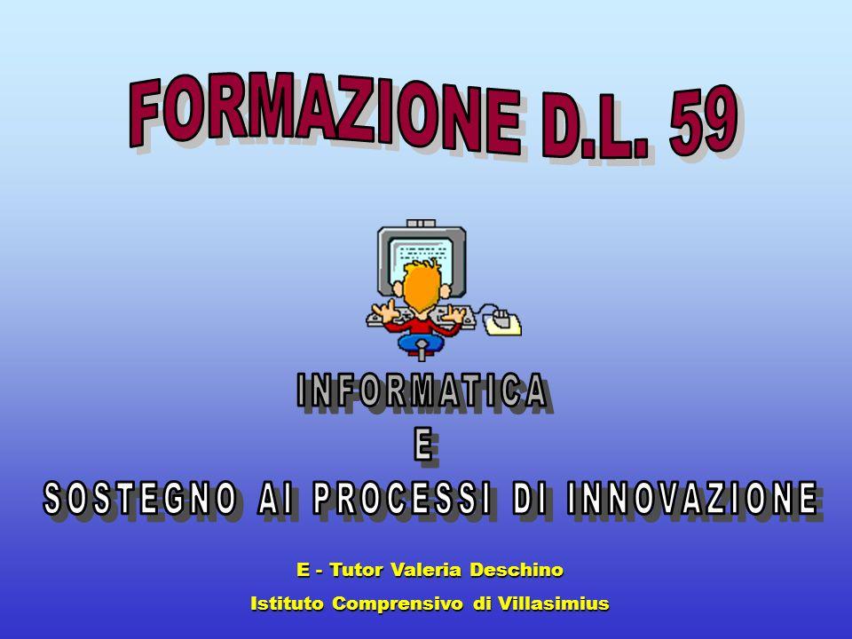 E - Tutor Valeria Deschino Istituto Comprensivo di Villasimius