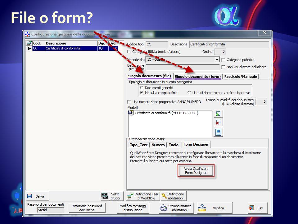 File o form?