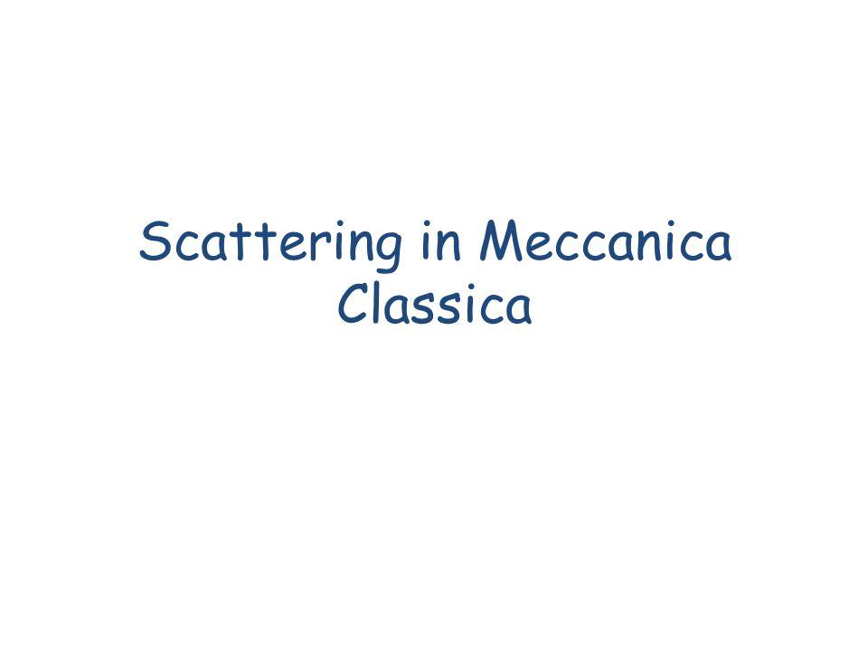 Sommario Scattering Diffusione Thomson e Rayleigh Sezione durto in meccanica classica Attenuazione Scattering da una sfera rigida Sezione durto di Rutherford F.