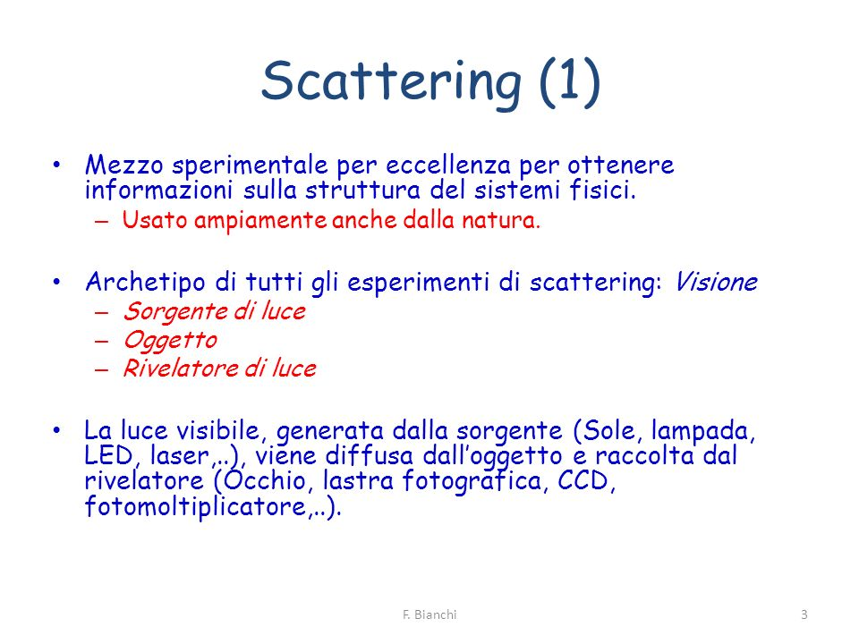 Scattering Rayleigh (5) 14F. Bianchi