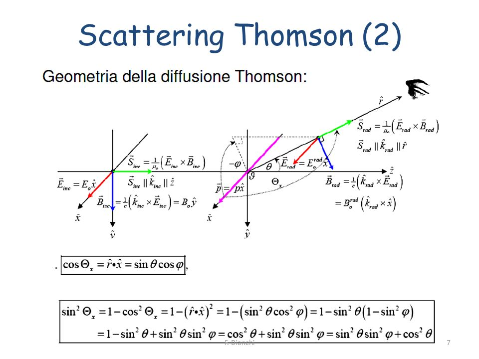 Scattering Thomson (2) 7F. Bianchi