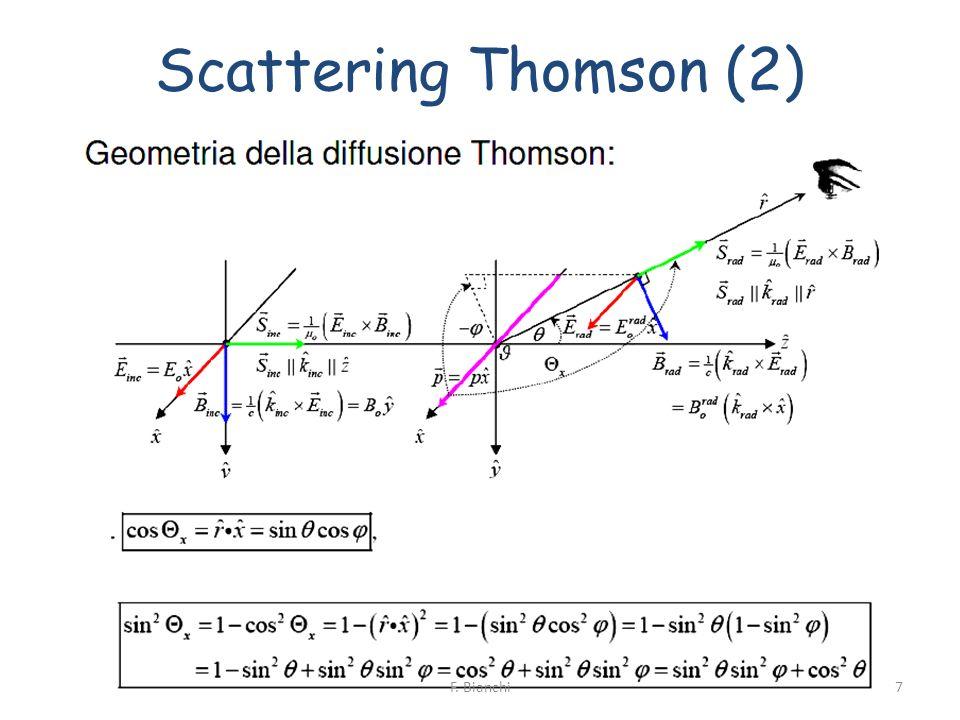 Sezione dUrto ed Attenuazione (2) Quantita spesso usate: -> cammino libero medio -> coefficiente di attenuazione lineare del fascio Per un singolo proiettile ( 0 =1): 18F.