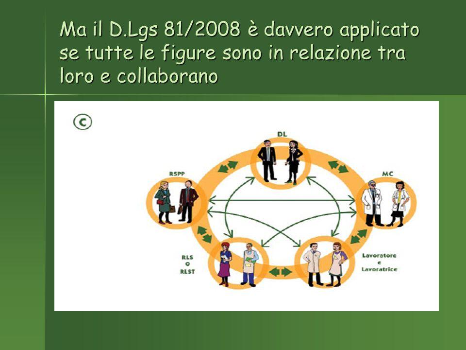 Ma il D.Lgs 81/2008 è davvero applicato se tutte le figure sono in relazione tra loro e collaborano